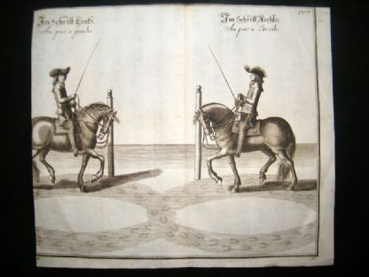 Cavendish Equestrian Dressage 1700 Antique Horse Print 32 | Albion Prints